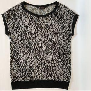 Forever 21 animal print knit short sleeve top